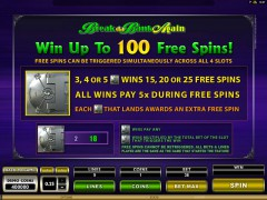 Mega Spins Break Da Bank igralni aparati aparati77.com Microgaming 5/5