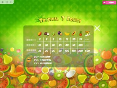 Tropical7Fruits igralni aparati aparati77.com MrSlotty 5/5